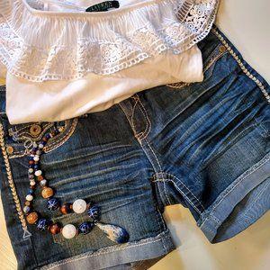 Cute Cuffed Denim Shorts